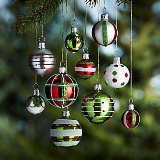 christmas tree ornaments crate  barrel