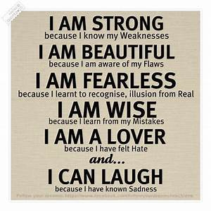 I Am Strong Motivational Quote « QUOTEZ CO