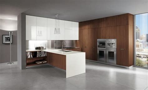 kitchen cabinets modern style ultra modern italian kitchen design brown white cabinets 6230