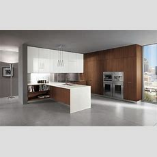 Ultra Modern Italian Kitchen Design Brown White Cabinets