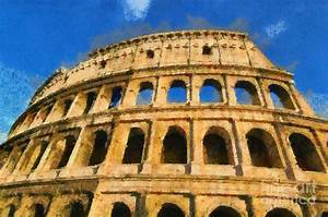 Colosseum In Rome Under Late Afternoon Light Painting by ...