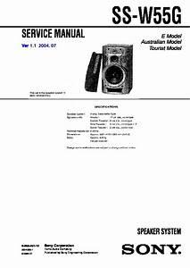 Sony Mhc-w55  Ss-w55g Service Manual