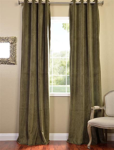 green grommet velvet blackout curtains drapes ebay