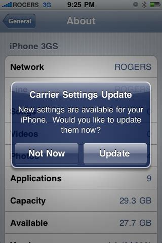what is carrier settings update on iphone rogers fido push out ota iphone carrier settings update