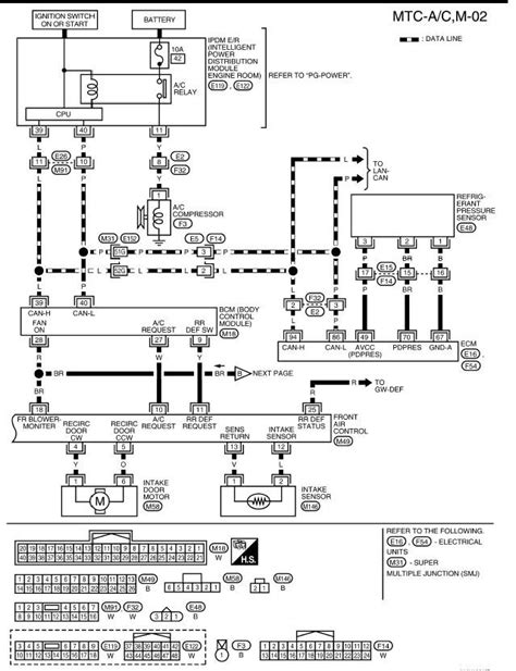 Xterra Wire Diagram by 2005 Nissan Xterra A C Inop A C Light Illuminated On