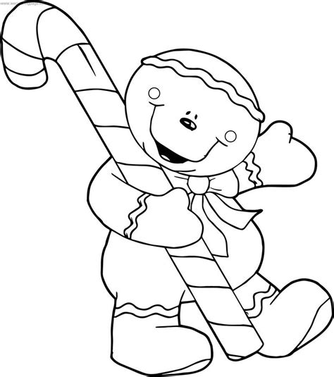 Gingerbread House Coloring Page Cookie Cartoon Also see