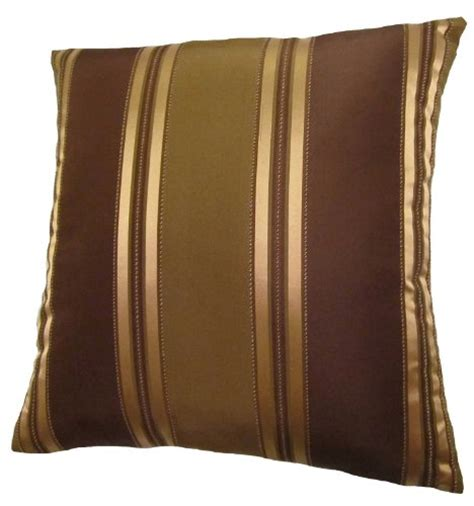 brown throw pillows new 24x24 bronze gold and brown stripes decorative throw