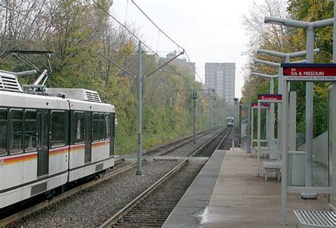 St Louis Light Rail by High Rises Ahead