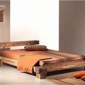 Lit Maison Bois : le lit en bois ooreka ~ Teatrodelosmanantiales.com Idées de Décoration