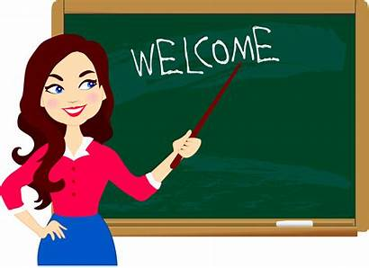 Welcome Clipart Teacher Student Education Blackboard Behavior