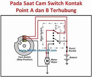 Cara Kerja Motor Wiper Saat Switch Wiper Diputar Pada