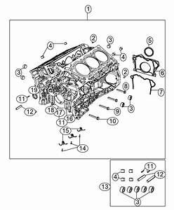 2014 Jeep Wrangler Engine Kit  Short Block  Oil  Cylinder  Cooler