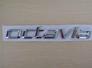 1 piece new for octavia word auto abs chrome rear trunk With custom car badge lettering