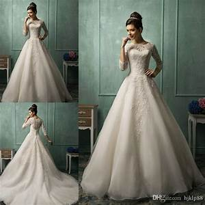 amelia sposa long sleeve wedding dresses for 2015 spring With cheap a line wedding dresses