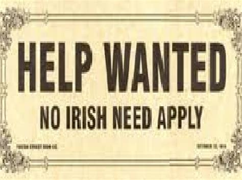 Image result for no irish need apply signs for sale