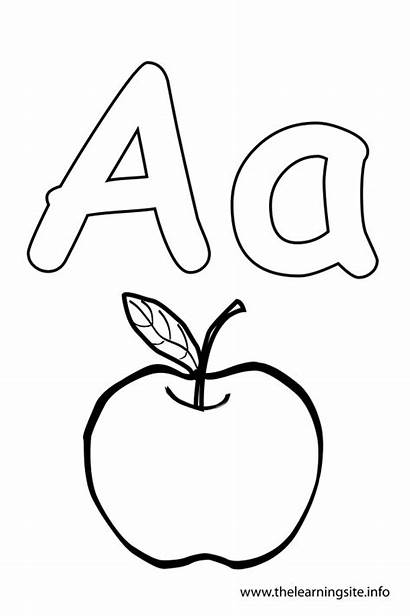 Letter Coloring Apple Outline Alphabet Pages Colouring