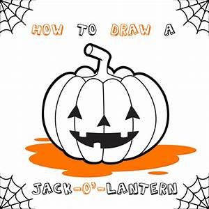 How To Draw Jack O Lantern Hellokidscom