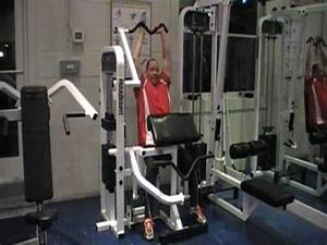 tricep overhead extension machine - YouTube