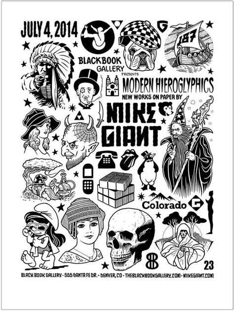 Mike Giant | Black Book Gallery | Mike giant, Symbolic tattoos, Tattoo drawings