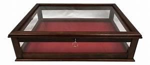 Vintage Mahogany Glass Tabletop Display Case Chairish