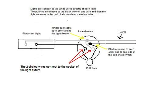 i wired a simple fluorescent light in series with a