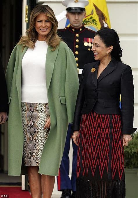melania trump latest skirt wears outing pencil demotix dailymail source