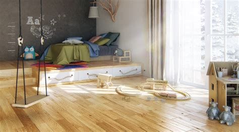 open plan boys room  blonde wood flooring interior design ideas