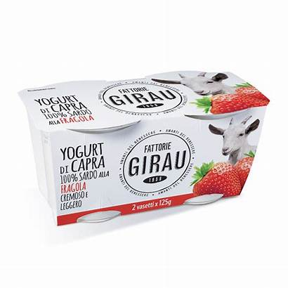Yogurt Capra Latte Fragola Sardo Fattorie Girau
