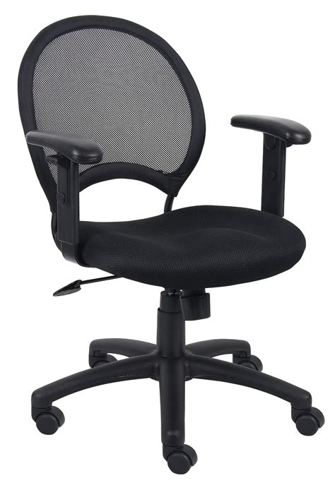 mesh back task chair with adjustable arms b6216
