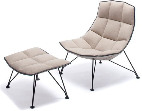 jehs laub wire lounge chair ottoman hivemodern