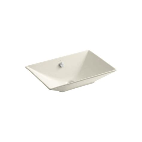 kohler reve 23 sink kohler reve fireclay vessel sink in almond with overflow