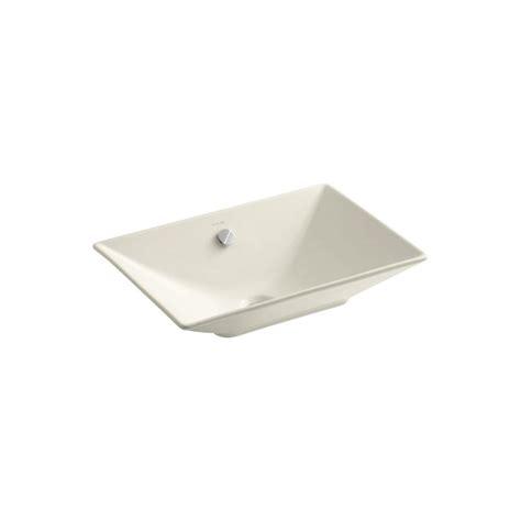 Kohler Reve Undermount Sink by Kohler Reve Fireclay Vessel Sink In Almond With Overflow