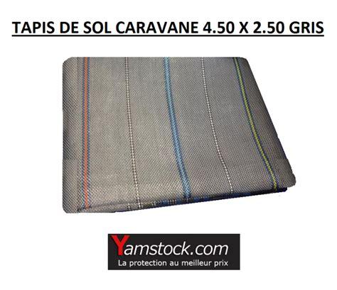 tapis de sol caravane cing car arisol pvc 4 50x 2 5m gris