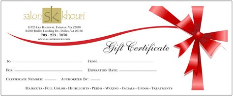 gift card template gift certificate templates find word templates