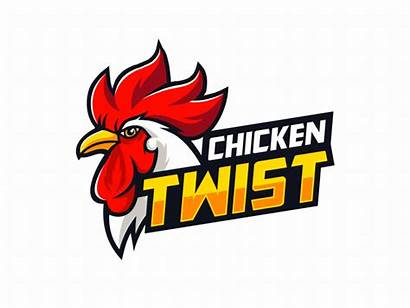 Chicken Twist Fast Orange Restaurant Logos Dribbble