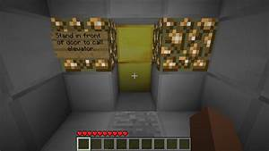 Fully working Piston Elevator Concept Minecraft Project