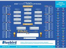 Free World Cup 2018 Wall Chart for Russia Bluebird