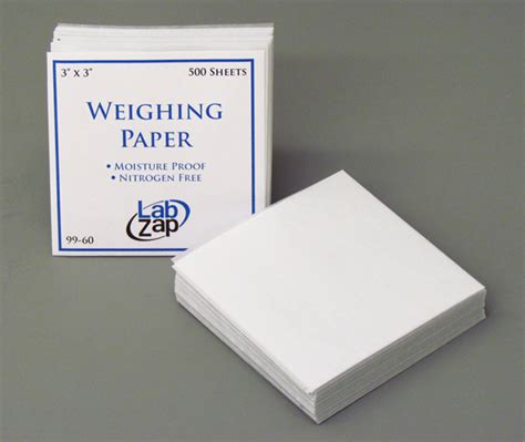 Weighing Boat Paper by Weighing Paper 3 X 3 Inch 75 X 75mm Pk 500 Pack 99