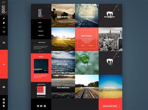 site portfolio concept sketch freebie