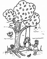 Swing Tree Template Coloring Pages Digis Monday Outdoor Fun sketch template