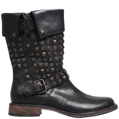 motorbike boots australia ugg women 39 s conor studded leather motorcycle boots black