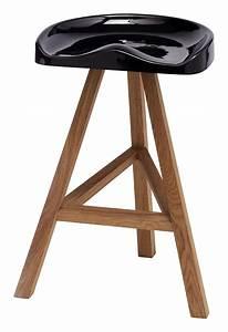 Tabouret De Bar Plastique : tabouret de bar heidi h 65 cm plastique bois noir ~ Teatrodelosmanantiales.com Idées de Décoration