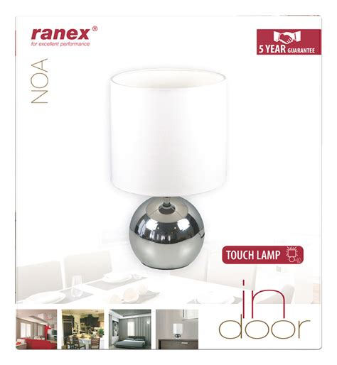 ranex uma stainless steel outdoor led wall light 300lm 5w free raindoor ranex table l touch function w chrome
