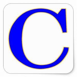 blue letter c sticker zazzle With letter c stickers