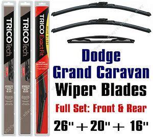 buy car manuals 2008 dodge grand caravan windshield wipe control dodge grand caravan 2008 2010 wiper blades 3 pk 26 quot 20 quot 16 quot 19260 19200 16 e ebay