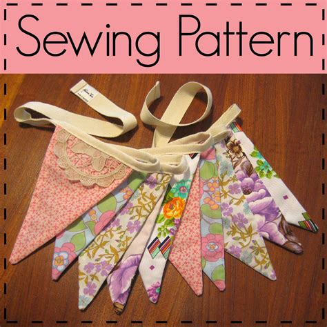 flag bunting sewing pattern fabric flag pennant party