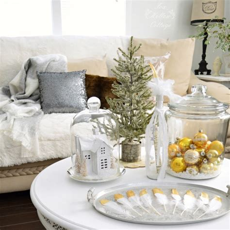 Brown Living Room Decorations by Vintage Gold Cottage Christmas Living Room Fox Hollow