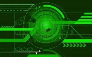 Photo Collection High Tech Green Wallpaper