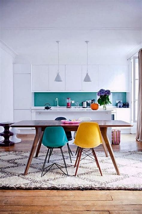 colorful dining room chairs 24 kitchens that stimulate the appetite messagenote