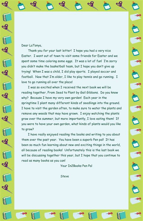 pen pal letter template quotes about pen pals quotesgram